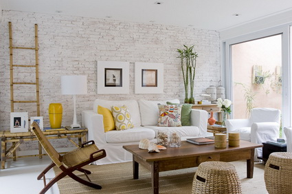 Living rooms with exposed brick 8