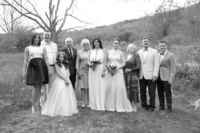 Outdoor family portraits at Jonna and Heather's Inn at West Settlement Wedding by Karen Hill Photography