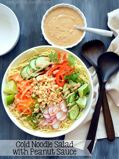on developing and testing this Cold Noodle Salad with Peanut Sauce ...