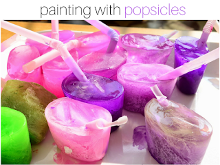 Got Bored Kids? 17 Practical Mom Ideas to try right away! Painting Popsicles
