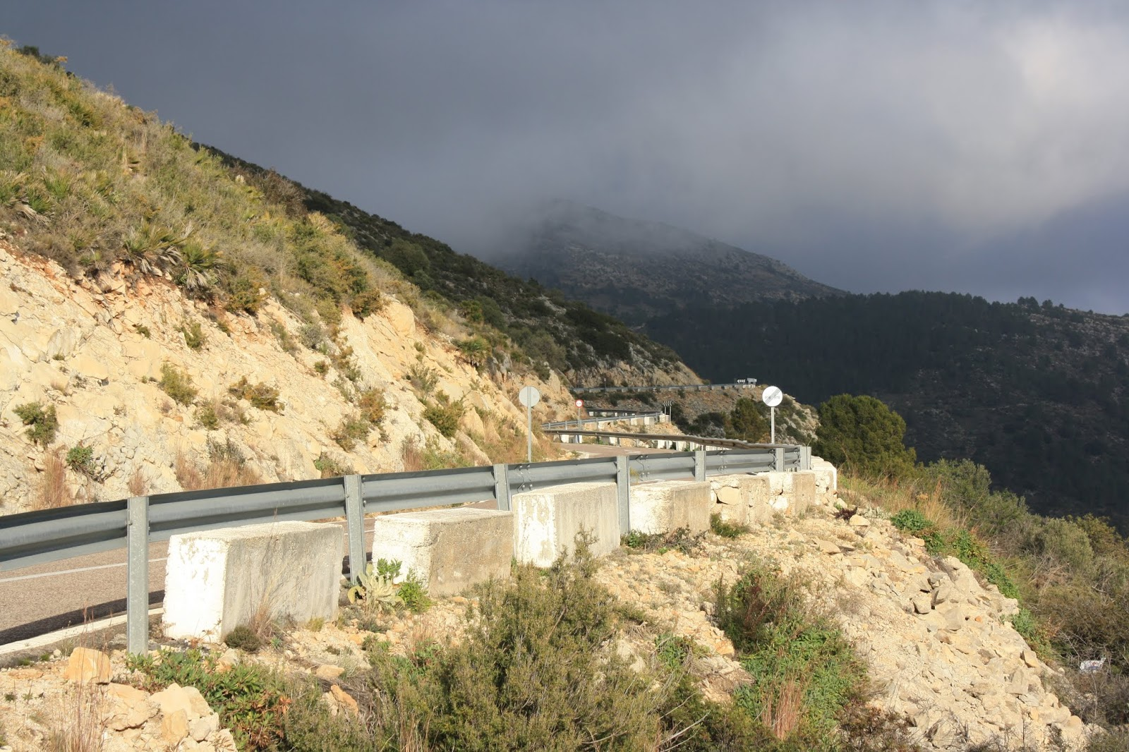 CV-715 road on south side of Coll de Rates, Alicante