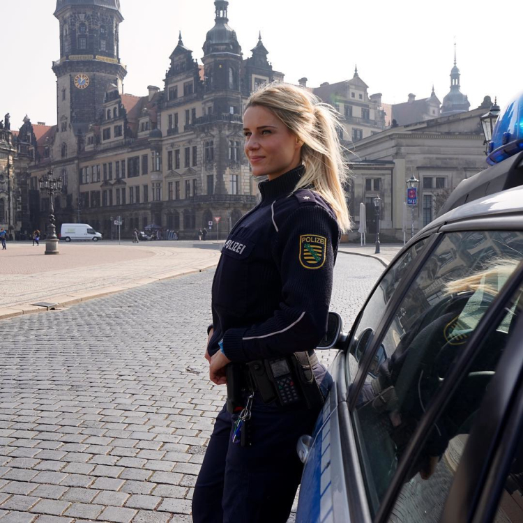 the German police and Fitness Model Adrienne Koleszar
