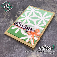Stampin' Up! Daisy Delight and Daisy Punch Handmade Card Idea. Order Cardmaking Supplies from Mitosu Crafts UK Online Shop