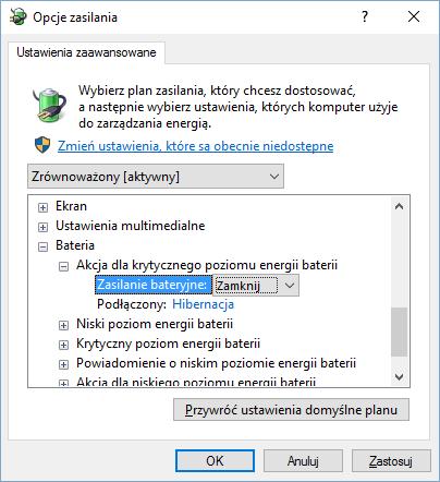 Opcje zamykania w systemie Windows 10