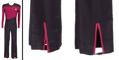 TNG jumpsuit lower pants split