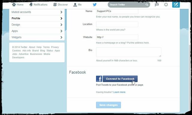 Menggabungkan Twitter dengan Facebook