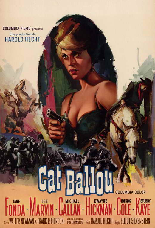 Cat Ballou 1965 movieloversreviews.filminspector.com Italian film poster