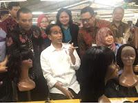 Presiden Jokowi Tinjau Pabrik Tempat Asal Wig Madonna