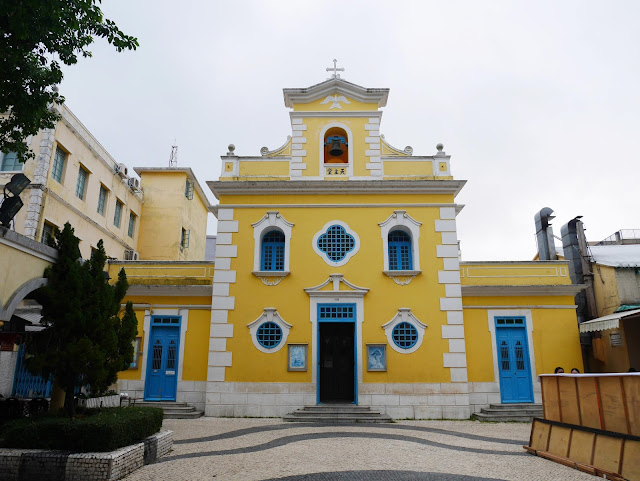 st francis xavier yellow church macau