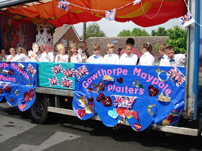 Float for the Mayday dancers Gawthorpe