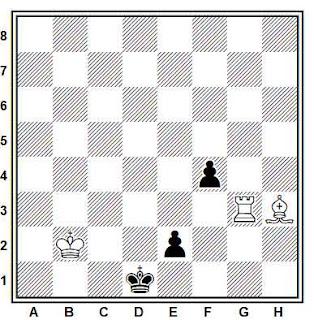 Estudio artístico de ajedrez compuesto por A. Cheron  (Journal de Geneve, 1955)