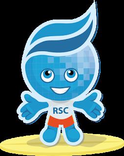 image of Rio Salado mascot, Splash smiling with RSC shirt