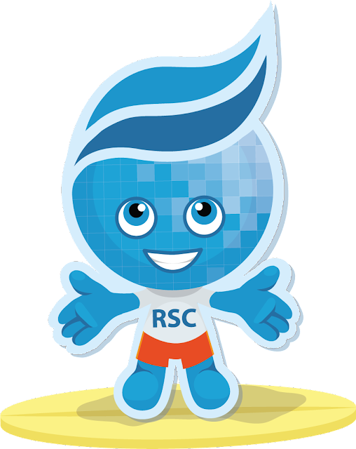 image of Rio Salado mascot, Splash smiling with RSC shirt