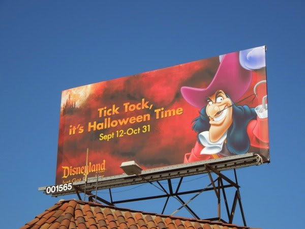 Disneyland Halloween Time Captain Hook billboard
