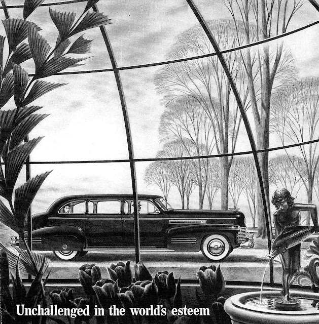 1941 Cadillac illustration, unchallenged in the world's esteem