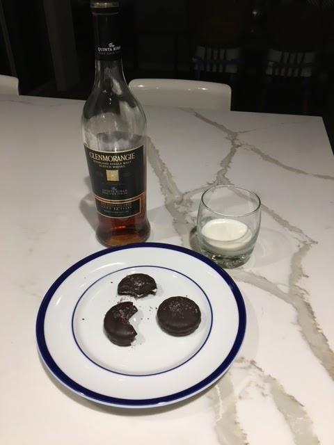 Santas cookies and scotch