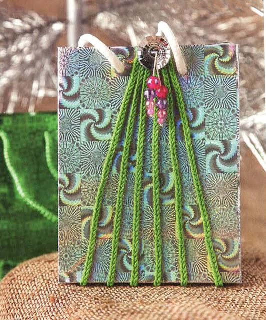 Декор подарочного пакета «Елка»