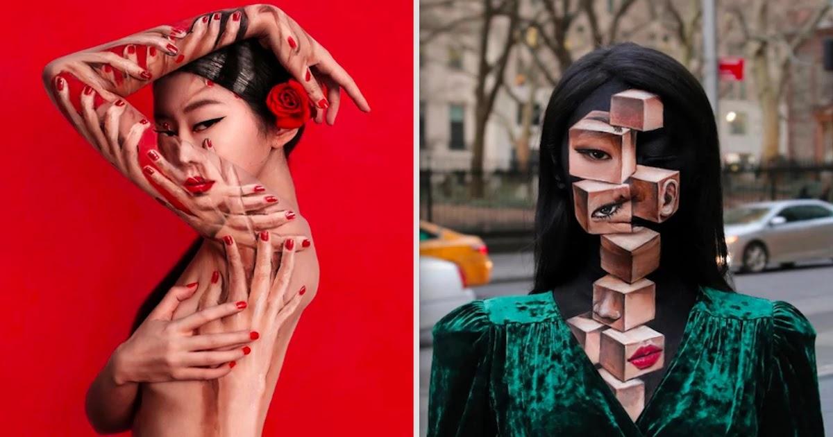 Artist Creates Impressive Optical Illusions On Her Face Through Make-Up