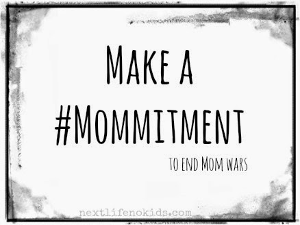 Make a commitment to be kind to moms regardless of differing beliefs. #Mommitment