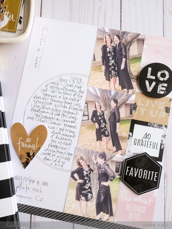 Celebrate Sisters Day With Heidi Swapp Storyline by Jamie Pate | @jamiepate for @heidiswapp