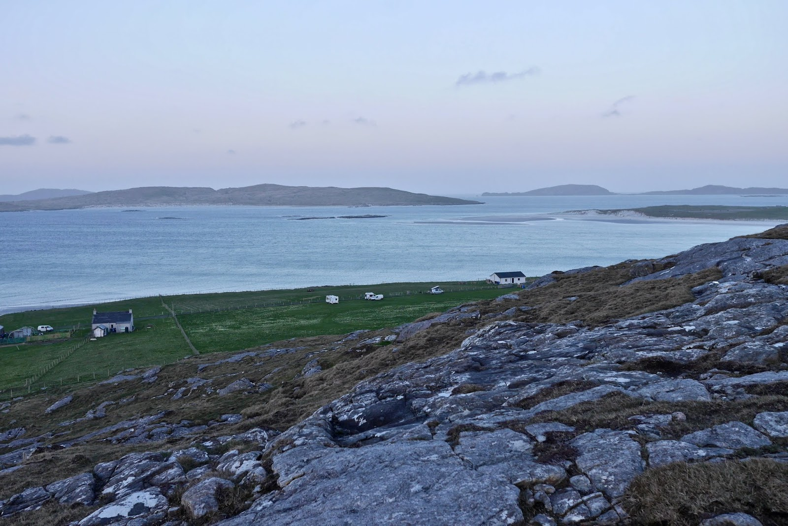Scurrival Campsite in Barra by Cal McTravel of www.CalMcTraves.com