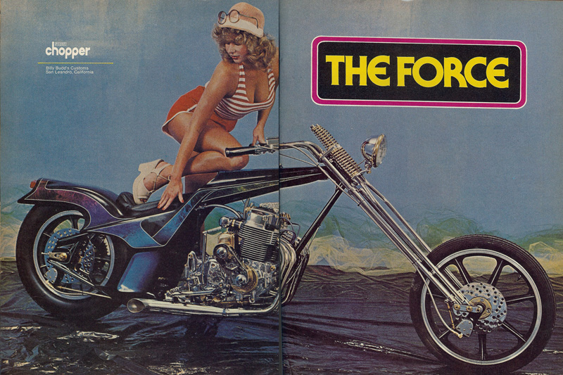"Almost Everything customer Billy Budde famed for his custom choppers including ""The Force."""