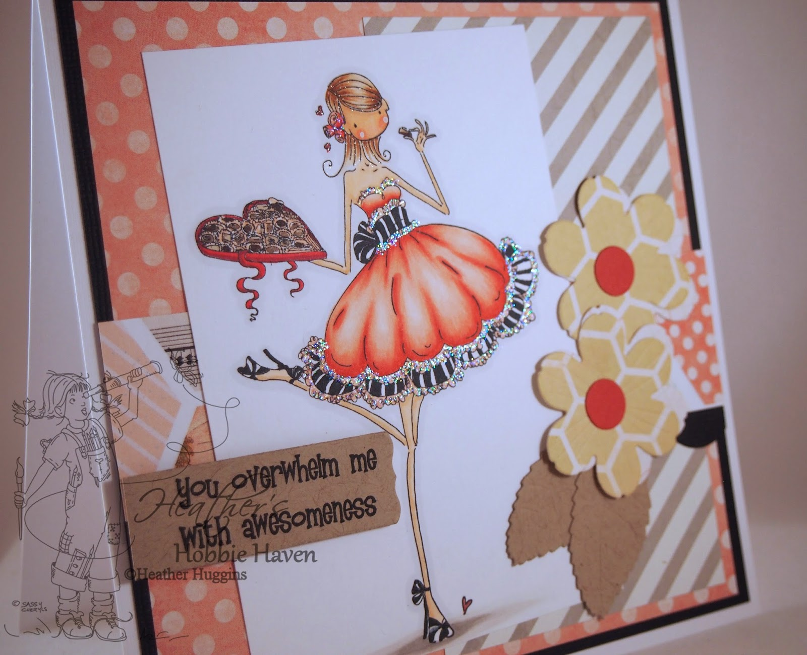 Heather's Hobbie Haven - Catherine Nibbling Chocolate Card Kit