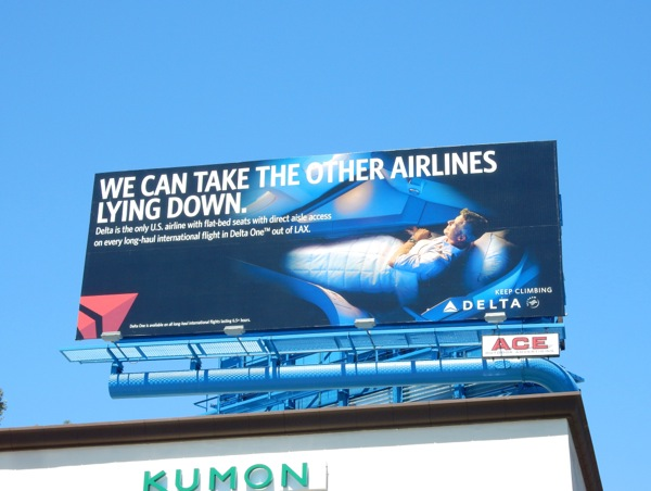 take other airlines lying down Delta billboard Jul 15
