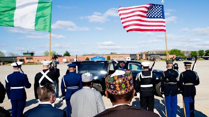 Photos: Nigeria's Buhari in the U.S. ahead of meeting with Trump