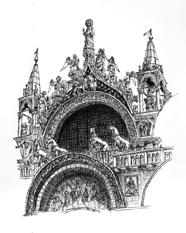 11-Saint-Marks-Basilica-Architectural-Drawings-Henk-Jan-www-designstack-co