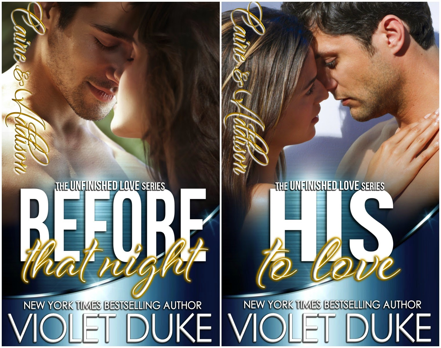 Cover Reveal: Before That Night and His to Love by Violet Duke