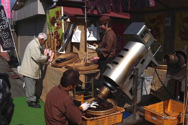 伊豆・河津櫻祭,很大顆的栗子。