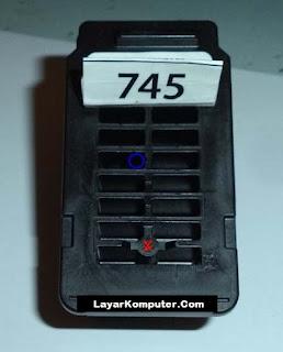 Cara Isi Ulang Tinta Katrid PG 745, Isi ulang tinta printer canon