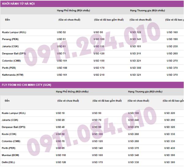 giá vé khuyến mãi bay đến Kuala Lumpur giá chỉ từ 18 usd