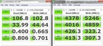 Comparativo do desempenho entre um HD e um RAM Disk