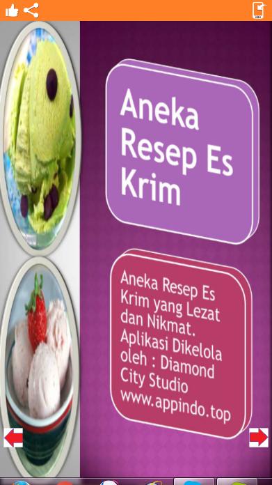 Aplikasi Android Indonesia Aneka Resep Es krim