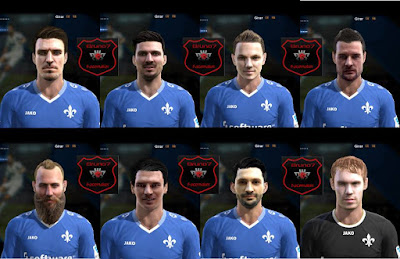 PES 2013 Facepack Darmstadt 98 by Bruno7 Facemaker