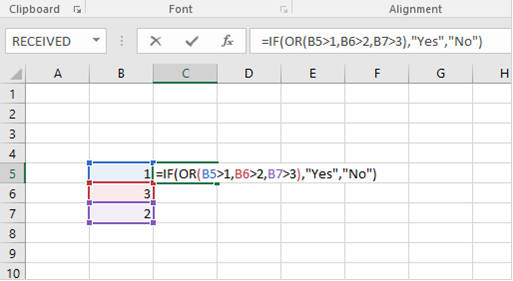 IF with OR formula
