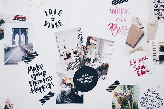 How To Create A Vision Board | why it's the first step to achieve your dreams and goals + how to start your own. Click through to read the whole post!