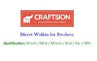Craftsion-Retail-India-walkin-freshers