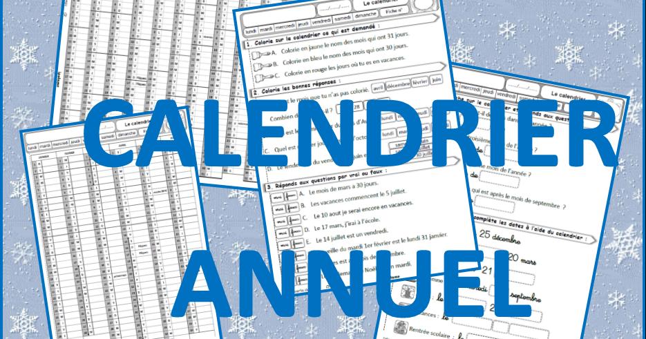 Calendrier Ce1 Exercices.Ipotame Tame Qlm Cp Ce1 Calendrier Annuel 2020