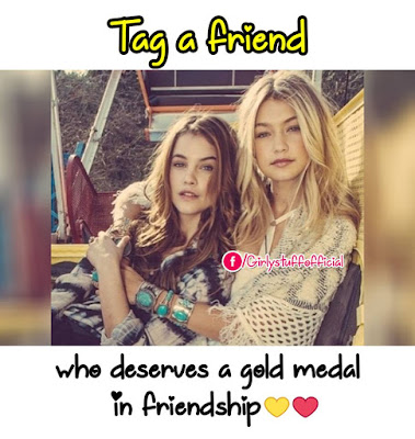 Tag a friend who deserves a gold medal in friendship
