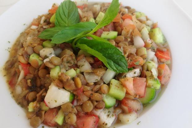 Lentil Salad in a serving dishg