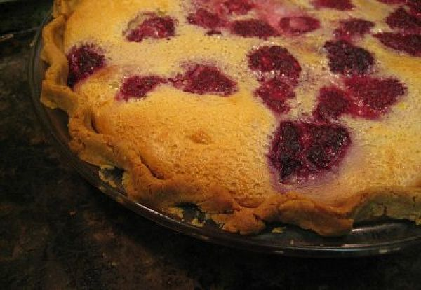Raspberry Custard Pie with Gluten Free Butter Crust from http://www.DrJeanLayton.com