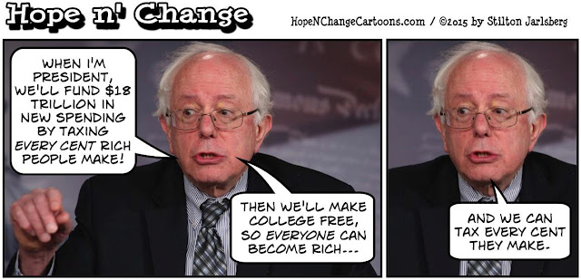 obama, obama jokes, political, humor, cartoon, conservative, hope n' change, hope and change, stilton jarlsberg, bernie sanders, debate, taxes, college