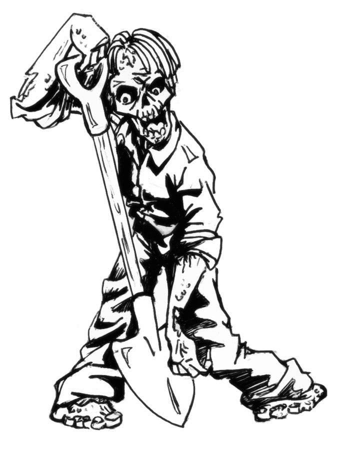 9 free zombie printable coloring pages for Zombie coloring pages