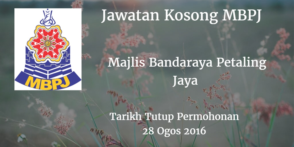 Jawatan Kosong MBPJ 28 Ogos 2016