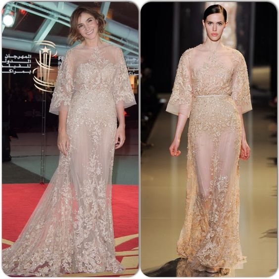 Princesse Clotilde de Savoie En Elie Saab Couture -2013 Vanity Fair Oscar Party
