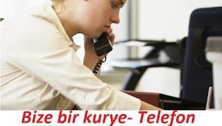 kurye telefon numarası, kurye şirket telefonları