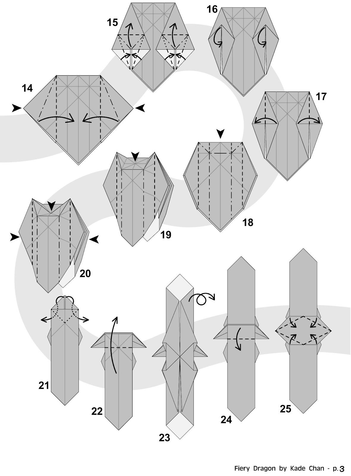 Intermediate Origami Dragon Diagram Volkswagen 2 0 Engine Kade Chan Blog 香港摺紙工作室 日誌 Fiery